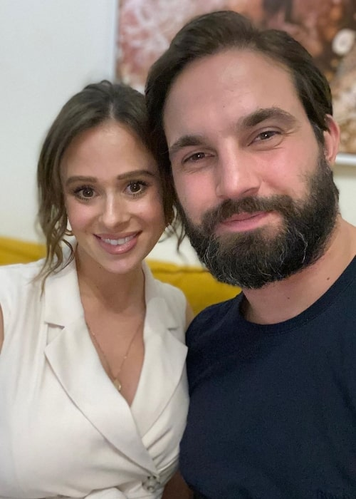 Jamie Jewitt as seen while clicking a selfie alongside Camilla Thurlow in July 2019