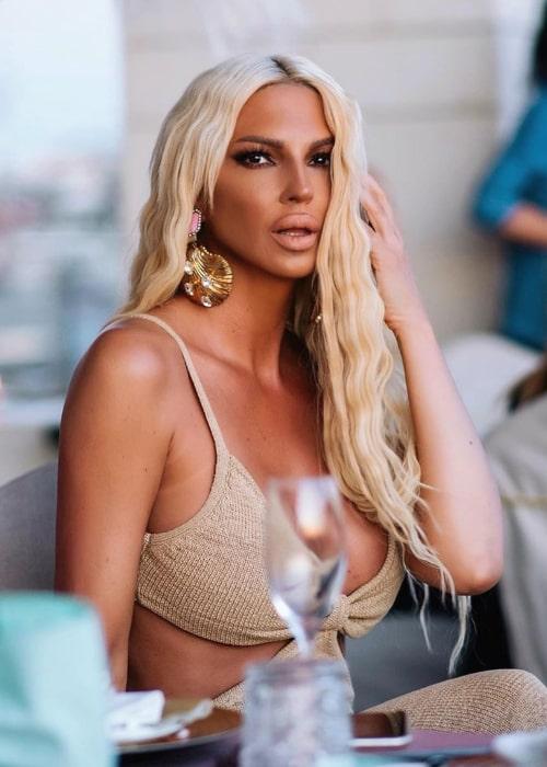 Jelena Karleuša as seen in an Instagram Post in June 2020