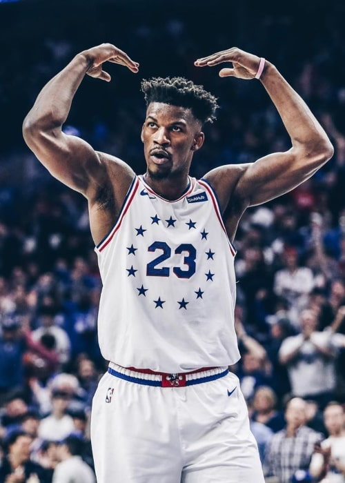 Jimmy Butler as seen in an Instagram Post in May 2019