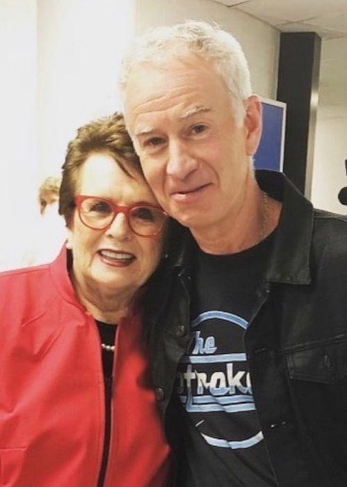 John McEnroe and fellow tennis legend Billie Jean King, as seen in July 2019