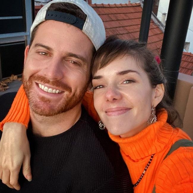 Julieta Nair Calvo as seen in a selfie taken with Andrés Rolando in June 2020