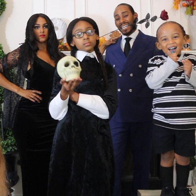 KJ Takeover as seen in a picture taken with her mother China, father Khristef, and younger brother in November 2019