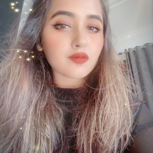Kajal Raghwani as seen in a selfie that was taken in August 2020