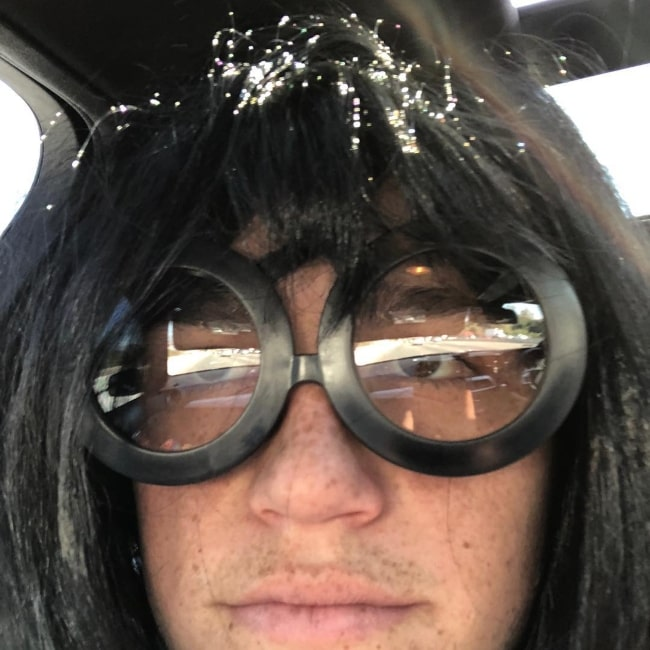 Kalama Epstein as seen in a close-up selfie taken in November 2018