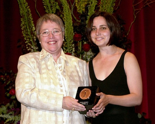 Kathy Bates as seen presenting the 2001 Student Academy Award to Marianna Yarovskaya