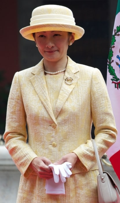 Kiko, Princess Akishino pictured during her visit to Mexico City in October 2014