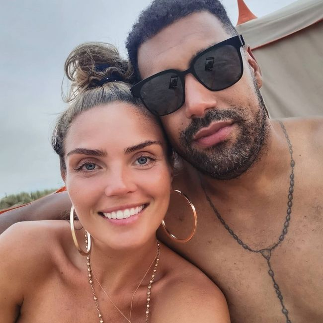 Kim Feenstra and Stanley Tailor as seen together in August 2020