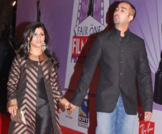 Konkona Sen Sharma with her then husband Ranvir Shorey at the 53rd Annual Filmfare Awards in 2008