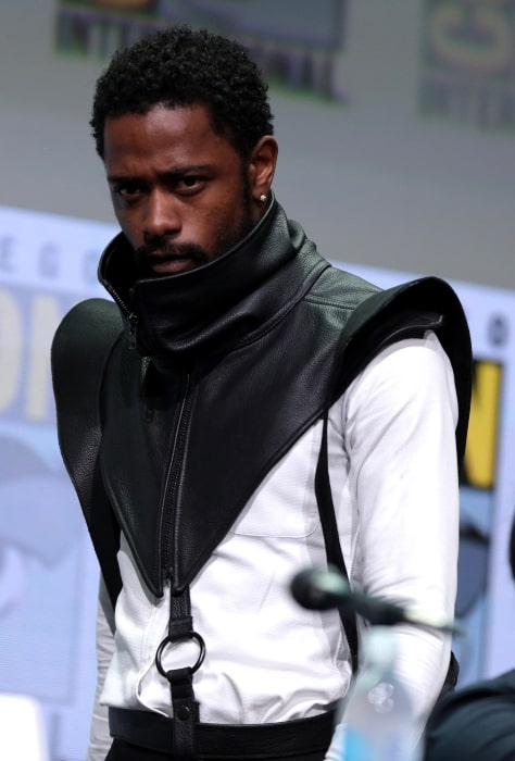 Lakeith Stanfield speaking at the 2017 San Diego Comic-Con International in San Diego in California