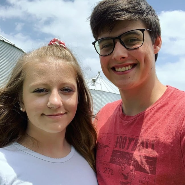 Landon Clifford as seen in a picture that was taken with his wife social media star Camryn Turner in July 2019