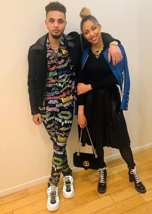 Layvin Kurzawa and Mélissa Chovet, as seen in February 2019