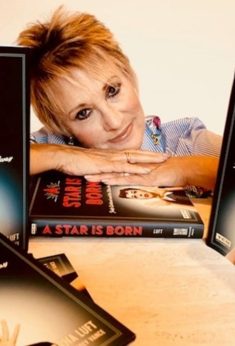 Lorna Luft in September 2018 declaring the release of her book A Star Is Born Judy Garland and the Film That Got Away