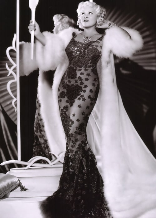 Mae West as seen in a picture that taken in the past