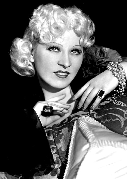 Mae West as seen in a picture that was taken in the past