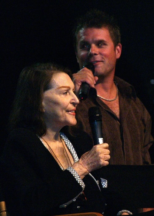Majel Barrett and son Rod at the Star Trek Convention in Las Vegas in 2008