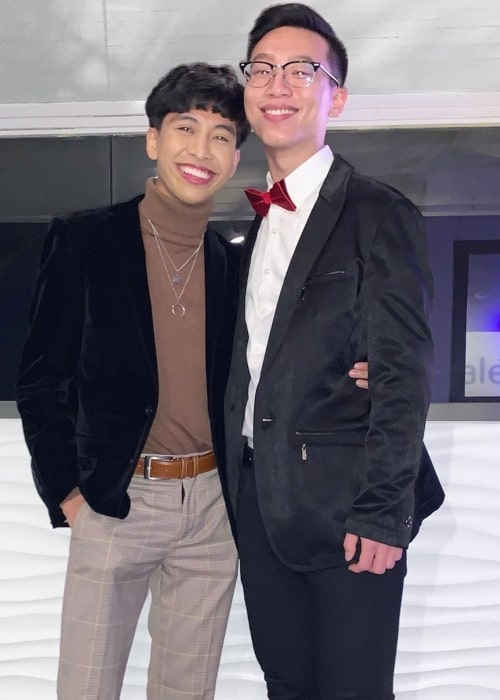 Marc Elvin Morales as seen in a picture that was taken at Huntington Bay Club with his boyfriend Jason in December 2019