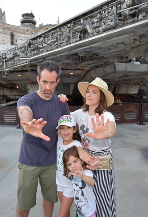 Marla Sokoloff with her family in Disneyland in September 2019