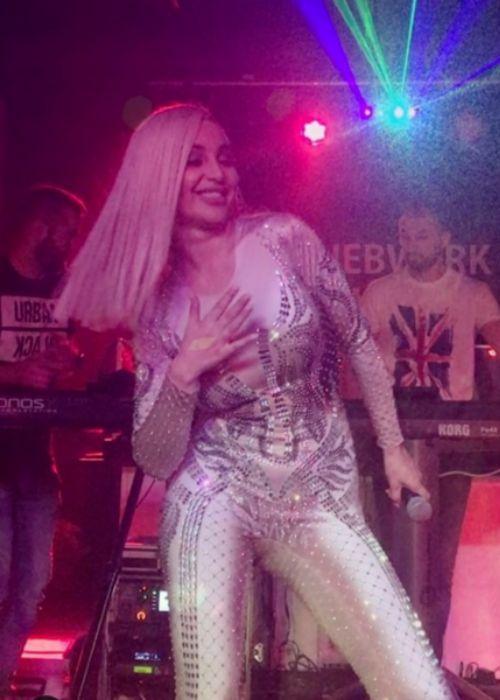 Maya Berović as seen performing at a concert in 2017