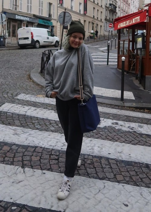 Maya Cumming as seen in a selfie that was taken in Paris, France, in December 2019