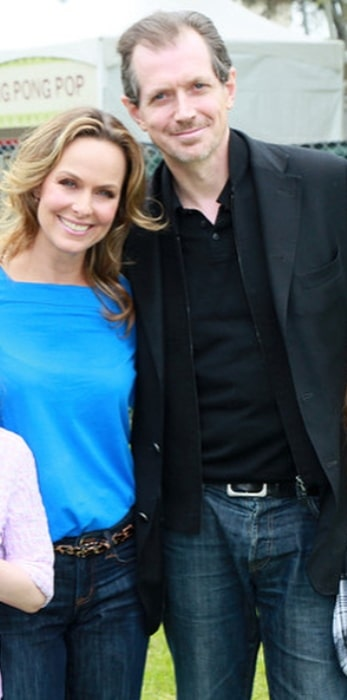 Melora Hardin with her husband in April 2018