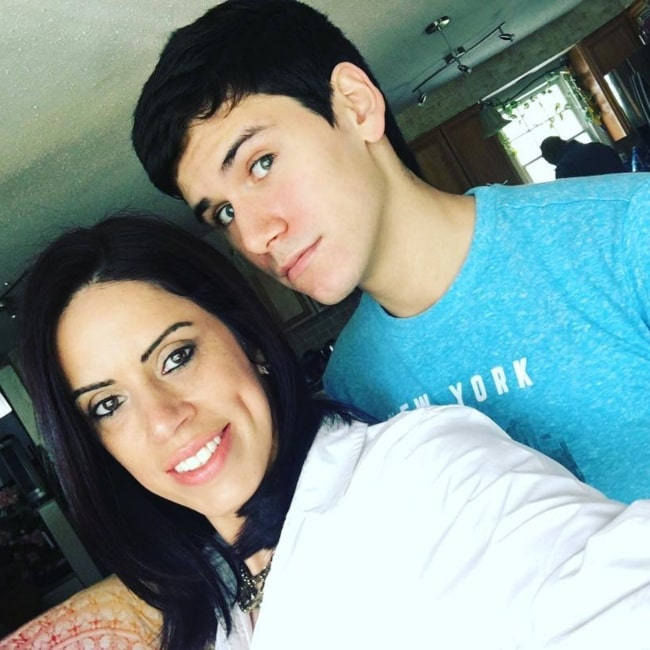 Meso Sacred as seen in a selfie taken with his mother May 2017