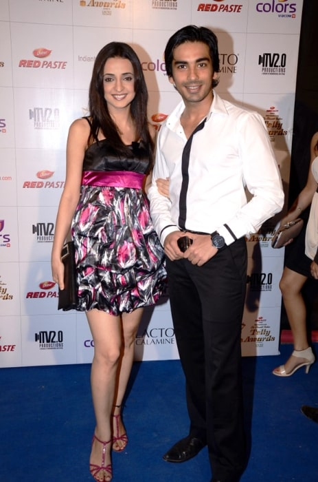 Mohit Sehgal and Sanaya Irani at Colors Indian Telly Awards in June 2012