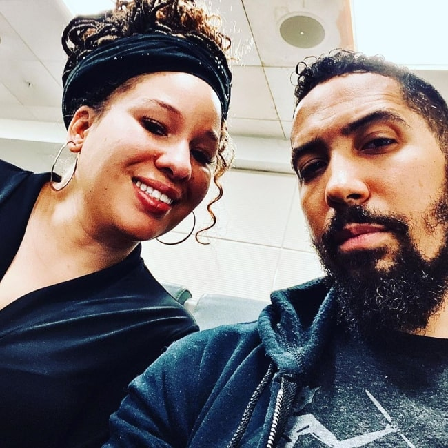 Neil Brown Jr. with his wife in Jauary 2020 wishing everyone a happy new year