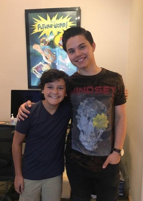 Nicolas Cantu (Left) as seen alongside Zach Callison in August 2017