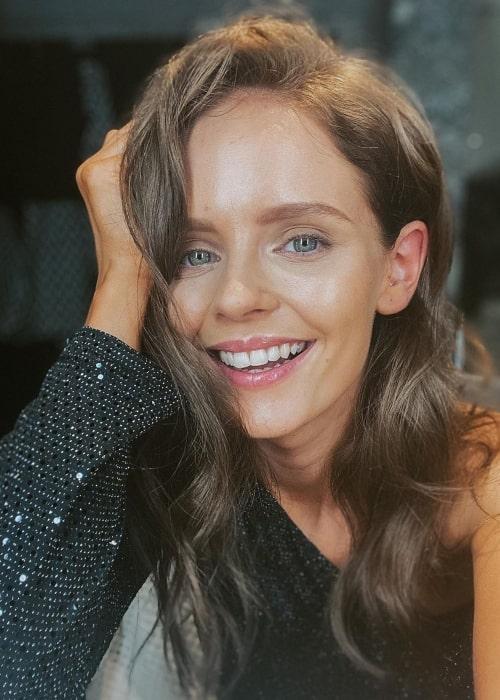 Olga Kalicka as seen in selfie that was taken in August 2020