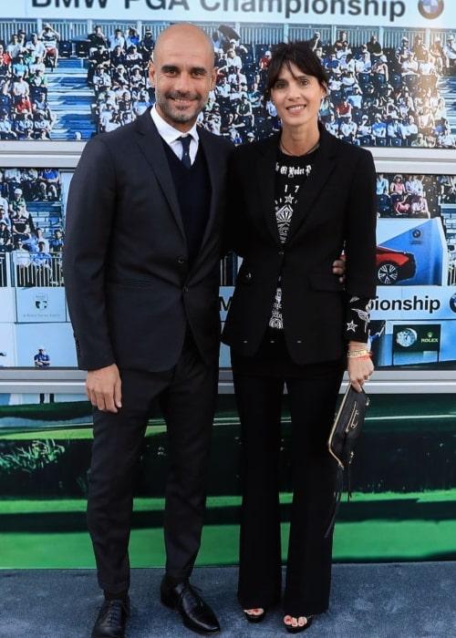 Pep Guardiola and Cristina Serra, as seen in February 2020