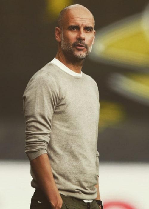 Pep Guardiola as seen in an Instagram Post in January 2020