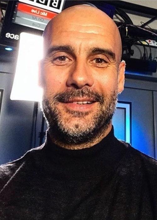 Pep Guardiola in an Instagram selfie from February 2020
