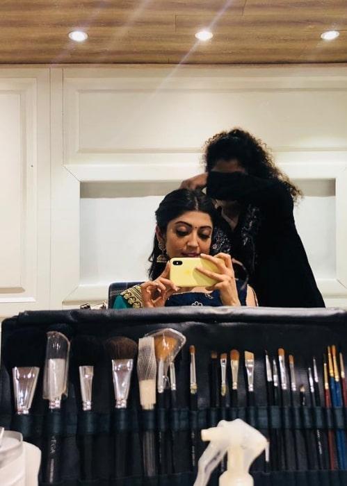 Pranitha Subhash as seen in January 2019