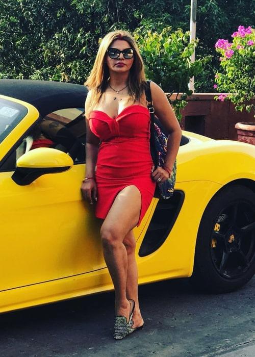 Rakhi Sawant as seen in an Instagram Post in August 2019