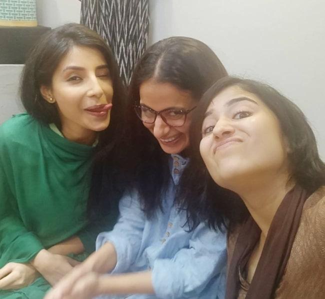 Rasika Dugal (Center) in a picture along with Shweta Tripathi Sharma (Right) and Harshita Shekhar Gaur