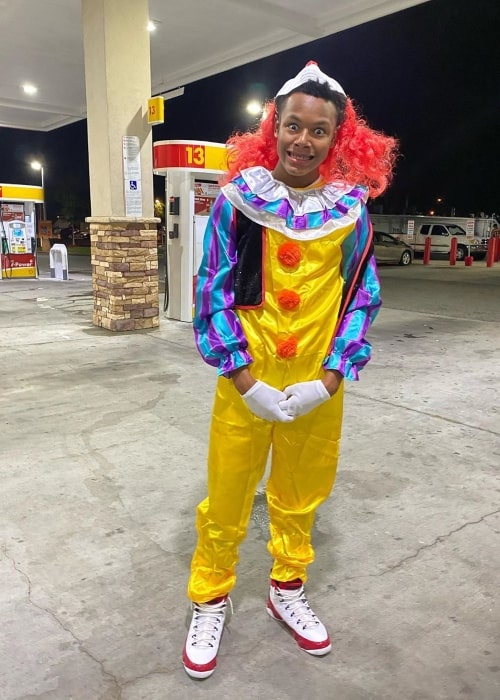 Richboy.Troy as seen in a picture that was taken while dressed in a clown suit in August 2020