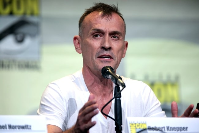 Robert Knepper speaking at the 2016 San Diego Comic Con International, for 'Prison Break', at the San Diego Convention Center in San Diego, California