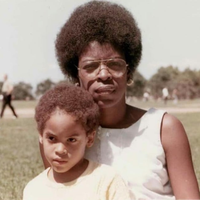 Roxie Roker as seen in a picture that was taken with her son singer and songwriter Lenny Kravitz in the past