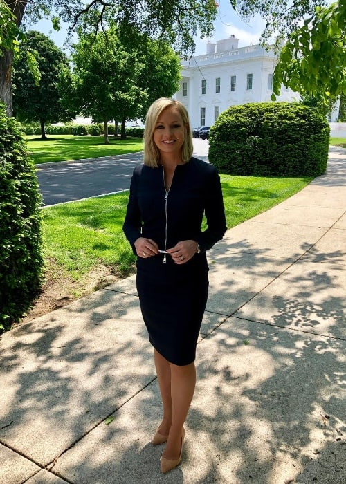 Sandra Smith as seen while posing for a picture at the White House in May 2019