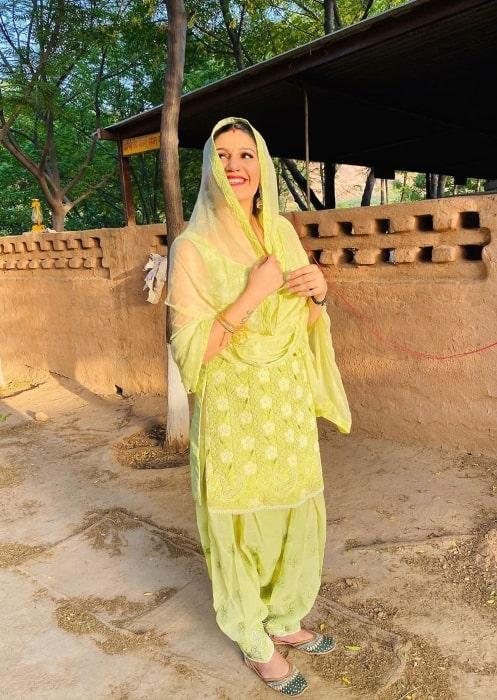 Sapna Choudhary as seen in July 2020