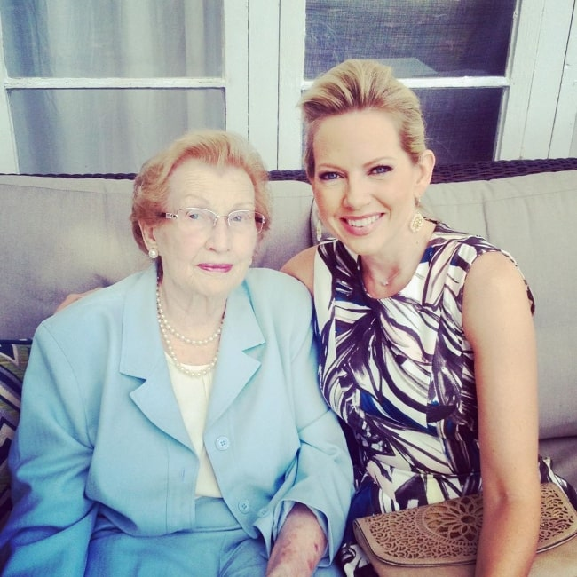 Shannon Bream in a picture alongside her grandmother