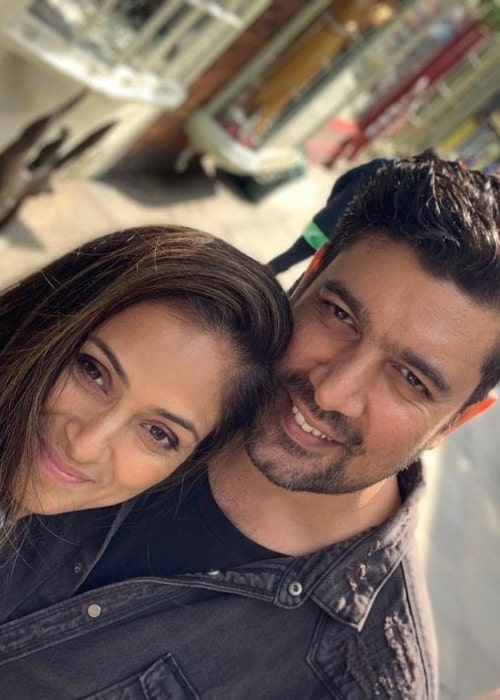 Simran with her husband in June 2019
