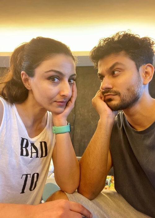 Soha Ali Khan and Kunal Khemu, as seen in July 2020