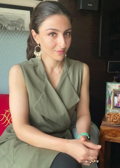 Soha Ali Khan as seen in an Instagram Post in July 2020
