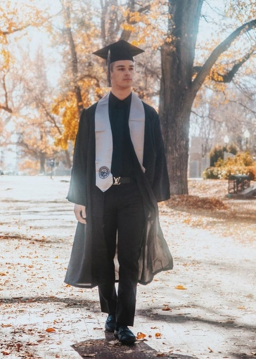 Somer Hollingsworth as seen in a picture that was taken on the day of his graduation in Reno, Nevada in December 2019