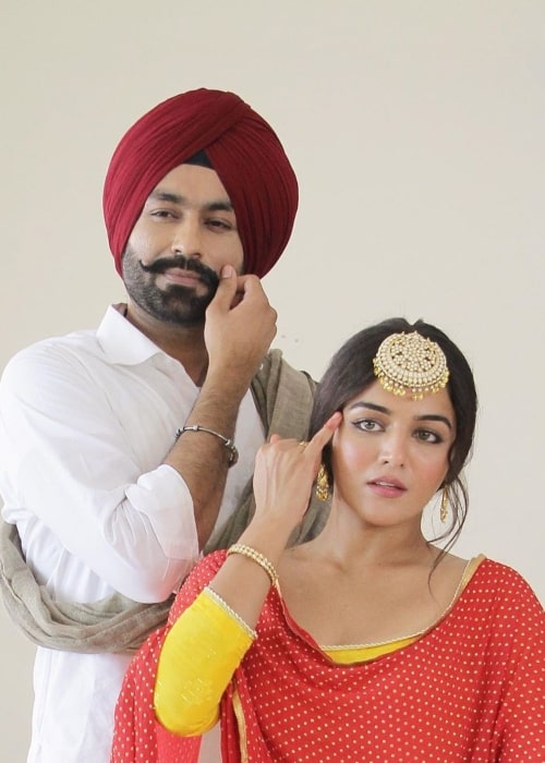 Tarsem Jassar as seen in a picture that was taken with fellow film actress Wamiqa Gabbi in August 2020