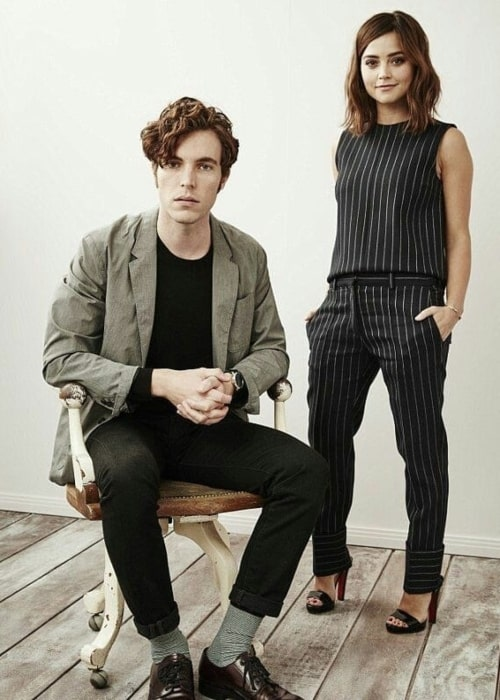 Tom Hughes and his beau actress Jenna Coleman in a picture that was taken in the past