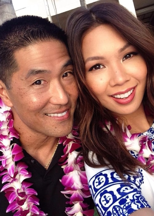 Tree Ma as seen in a selfie that was taken with her husband in October 2015