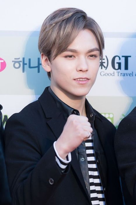 Vernon as seen on the red carpet of the Gaon Chart K-pop Awards in 2016