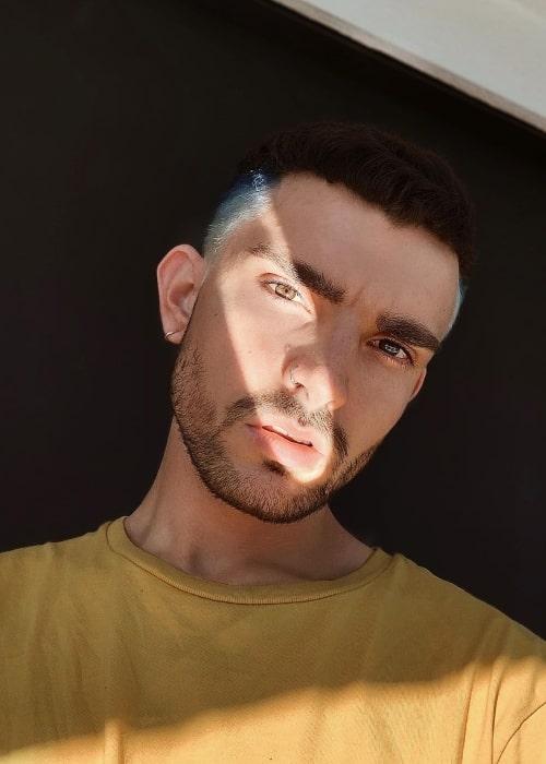 Vinsainto as seen in a selfie taken in July 2020